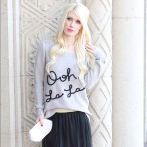 Lauren Conrad Ooh La La sweater size S